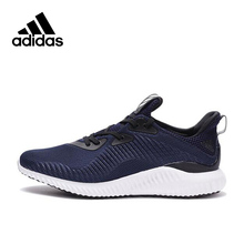 Intersport New Arrival Authentic Adidas Alpha Bounce Breathable Men's Running Shoes Sports Sneakers
