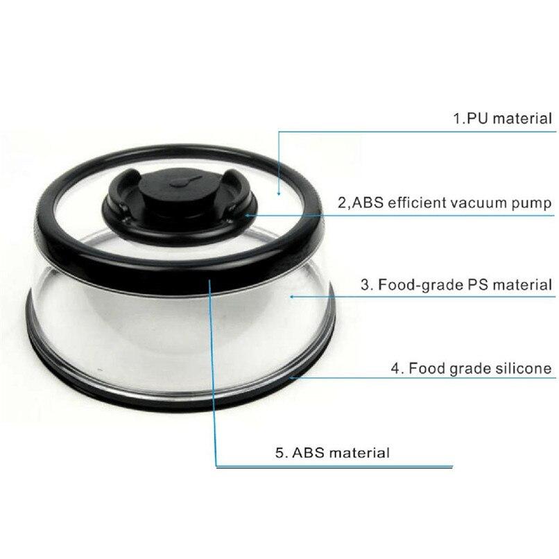 Vacuum Food Seal fresh Cover Vacuum Food Sealer Mintiml Cover Kitchen Instant Vacuum Food Sealer Fresh Cover #2H08 (9)