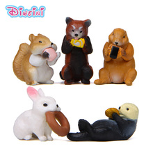 Artificial Forest Animal Eating Model action Figures Miniature Figurine home Garden Dollhouse Decoration DIY Accessory toy gift cheap Finished Goods for 3 years old and above Grownups 12-15 Years 5-7 Years 3 years old 8-11 Years 8cm Western Animiation