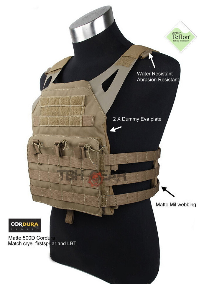Jump Plate Carrier JPC Vest JPC Combat Vest Matte Coyote Brown Color+Free shipping(STG050471) tmc vest 94k m4 pouch plate carrier tactical military vest matte coyote brown free shipping sku12050549