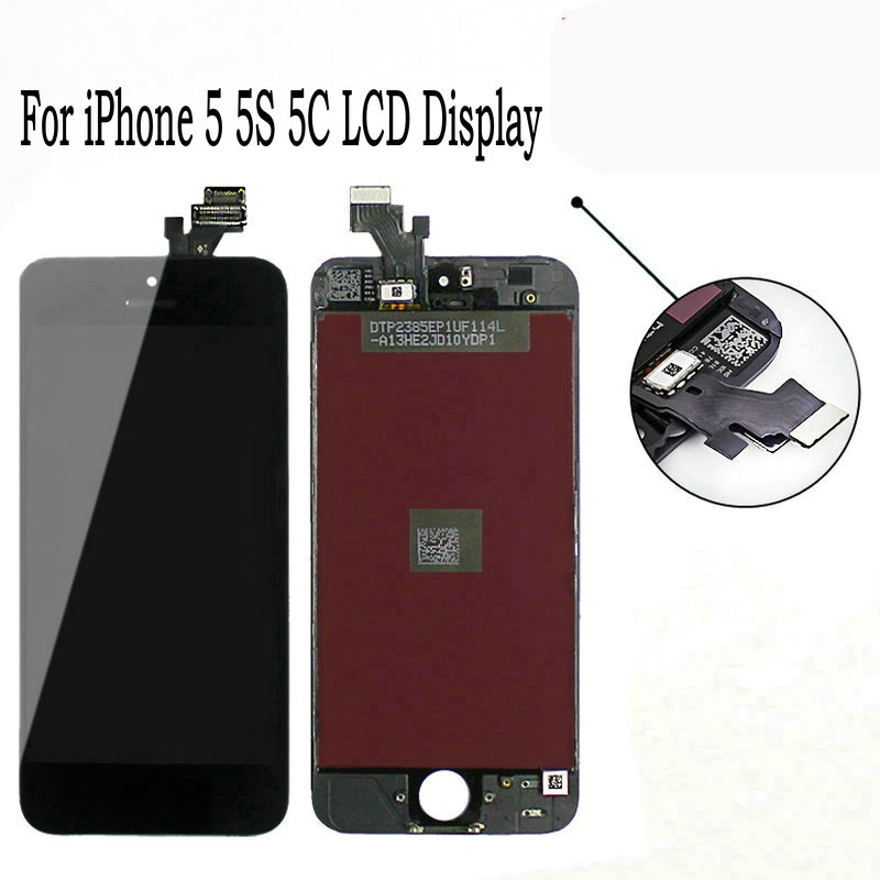 <font><b>Original</b></font> Screen For Apple <font><b>iPhone</b></font> 5 <font><b>5S</b></font> 5C <font><b>LCD</b></font> Display Touch Screen Assembly With Digitizer Glass No Dead Pixel Phone Parts image
