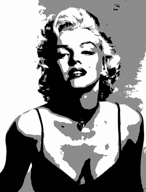 Sexy Marilyn Monroe Printed Oil Painting On Canvas Wall Art Black