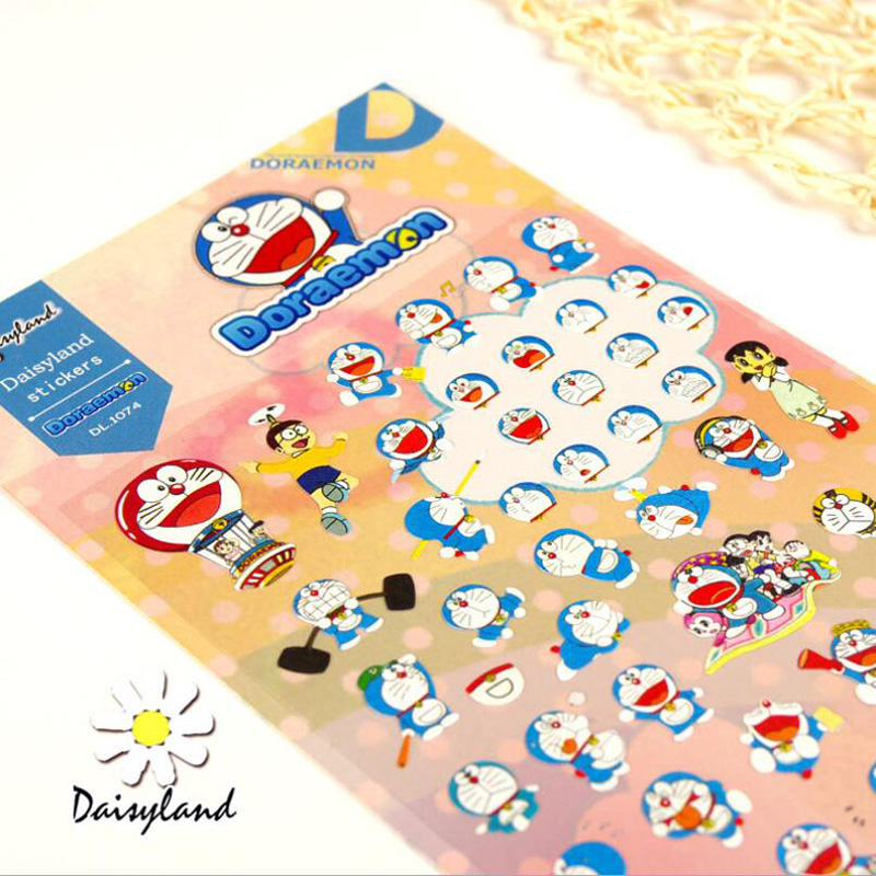 X11 Kawaii Cartoon Cute Doraemon Sticker Student Stationery Scrapbooking Decor Label Album Laptop Bottle Decor Sticker Kids Gift