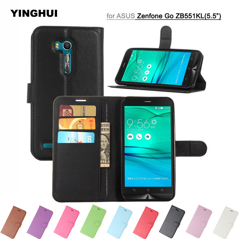 Retro PU Leather Case For Asus ZenFone Go TV ZB551KL X013DB Wallet Inner Soft TPU Cases For Asus ZB551KL Flip Back Stand Cover