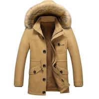 Brand Clothing Winter Jacket Men Warm Solid Cotton Down Coat Mens Casual Hooded Jackets Thickening Doudoune