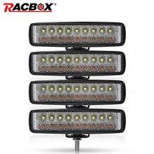 4 adet 6 inç 18 w LED İş Işık Sel Işın Çift Renk Sıcaklık Sis Işık Için Jeep Offroad 4x4 ATV 4WD SUV UAZ Kamyon Işık