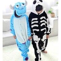 Детские пижамы с изображением скелета кигуруми и Салливана, одежда для сна, комбинезон унисекс, одежда для мальчиков и девочек, детские комб...