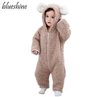 Baby Rompers Baby Boys Girls Clothing Winter Jumpsuit Christmas Gift Warm Infant Baby Clothes