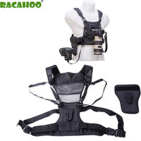 RACAHOO Professional Outdoor Camera Strap With Double Shoulder Strap Quick Loading Photography Vest For Digital SLR