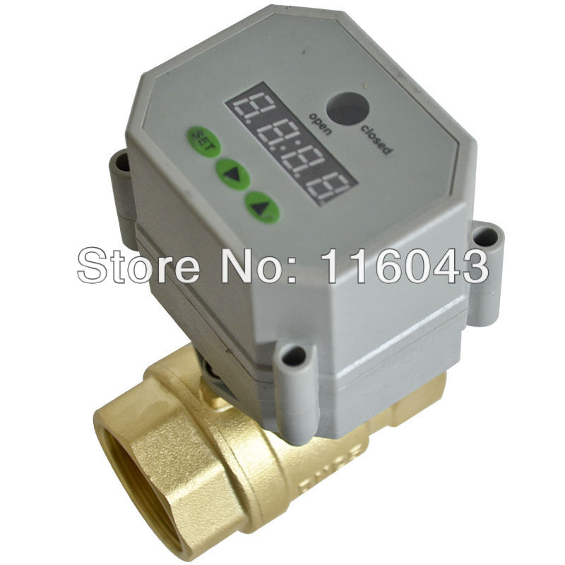 1'' full port electric time control valve AC/DC9-24V BSP/NPT thread for garden air compressor Drain water air pump water control 3 4 brass time control electric valve ac110v 230v bsp npt can be selected for garden water irrigation drain water air pump
