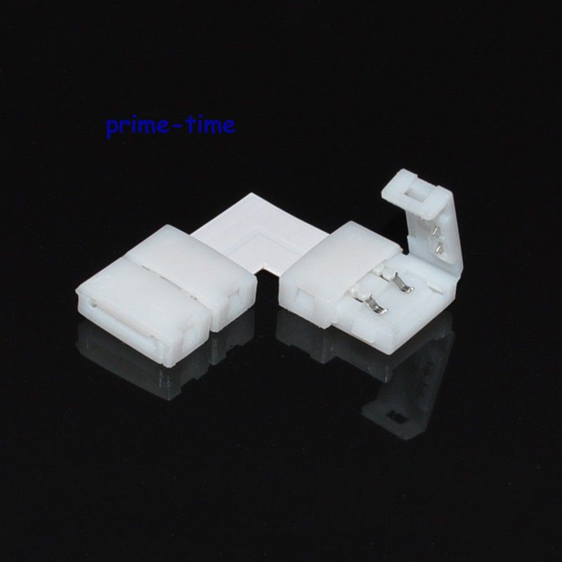 10PCS L Shape 10mm 2 PIN Quick Splitter Right Angle Corner Connector for 5050 5630 5730 Single Color LED Strip No soldering 10 pcs lot silver color metal corner brace right angle l shape bracket 20mm x 20mm home office furniture decoration accessories