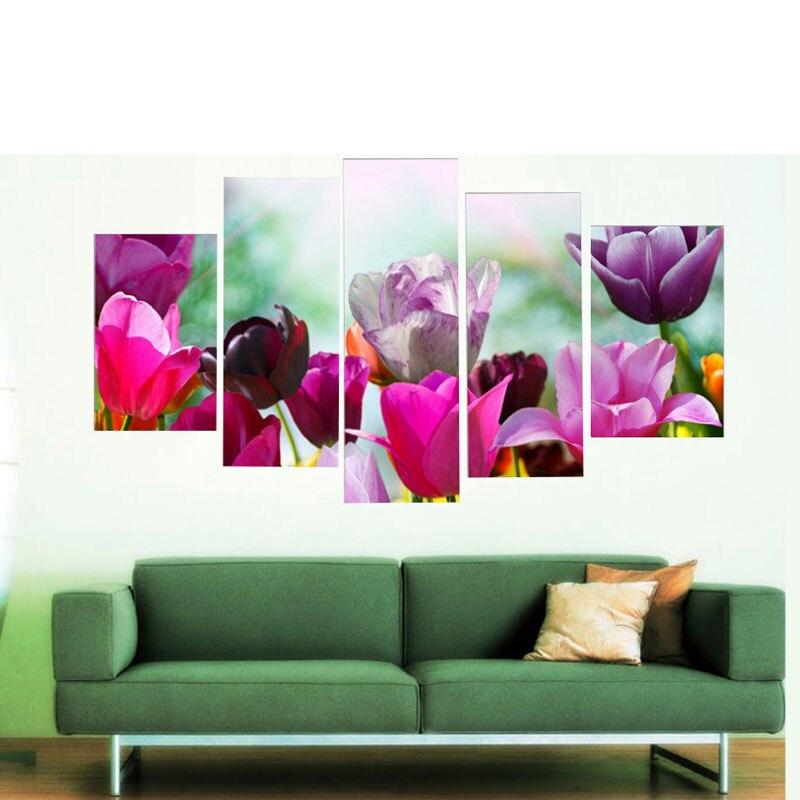US $35.8 |Arte della parete della tela 5 pz quadri moderni parete per  soggiorno economici cavans olio casa immagine della decorazione pittura-in  ...