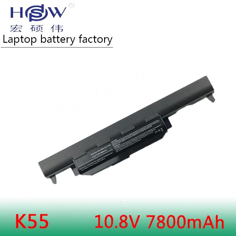 HSW 9 cellulaire batterie d'ordinateur portable pour asus A45 A55 A75 K45 K55 K75 batterie R400 R500 R700 U57 X45 X55 X75 Série A32-K55 a41-K55 batterie