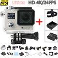 [2X Baterias + Cabeça Strap + Carregador] Original Real 4 K 24fps Câmera Ação Novatek 96660 Capacete Wi-fi Cam ir Debaixo D' Água pro câmera