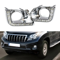 High Quality Car LED Lights Driving Daytime Running Light White Daylight DRL For Toyota Prado 2010