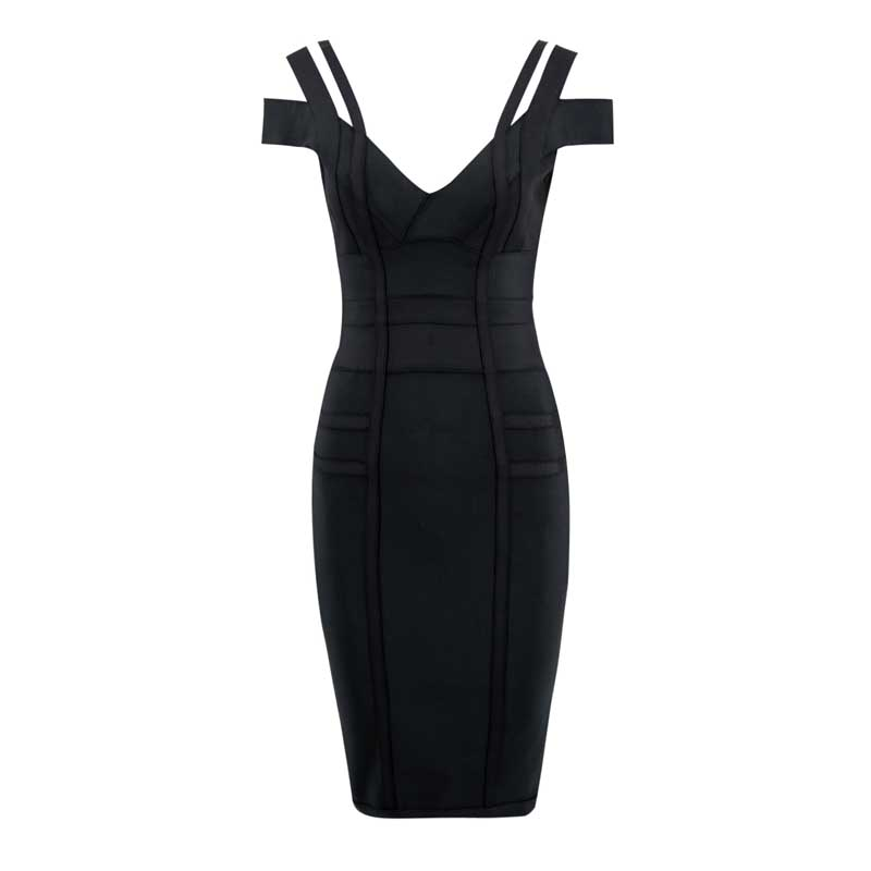 wholesale 2019 New Dress Black and wine red Elastic tight pack hip Fashion elegance Cocktail party bandage dress L2414 in Dresses from Women 39 s Clothing