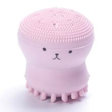 Wash Face Exfoliating Cute Pink Octopus Brush Cleaning Pad Facial SPA Skin Tool Deep Pore Exfoliator Washing