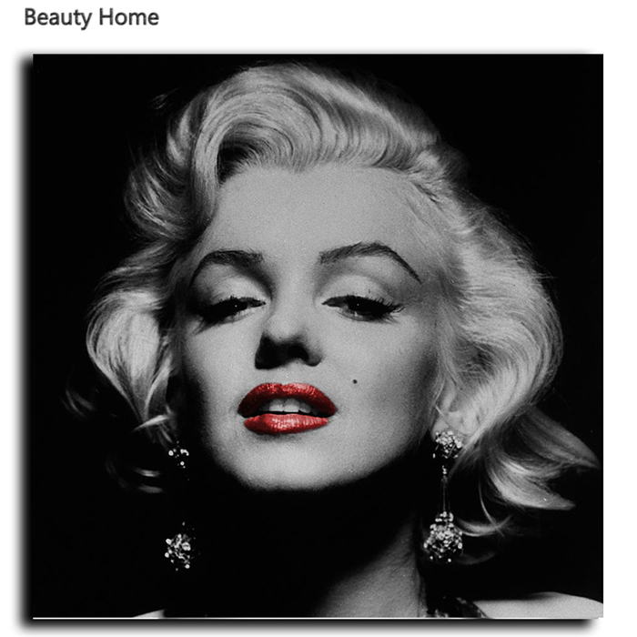 Marilyn Monroe Cuadro Marilyn Monroe Home Decor Modern Paintings Wall Canvas