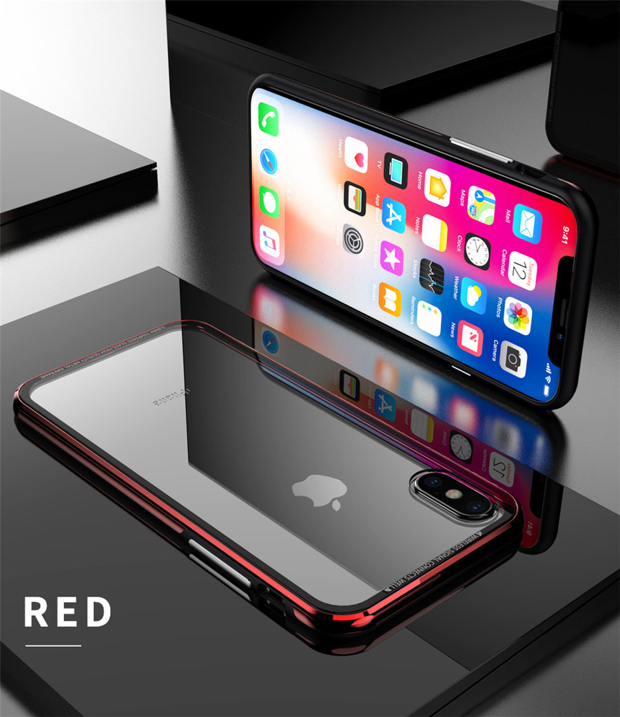 Luxury Aluminum Phone Cases For iPhone X Original R-just Hardness Tempered Glass Cover Case For iPhone X 10 Accessories (10)