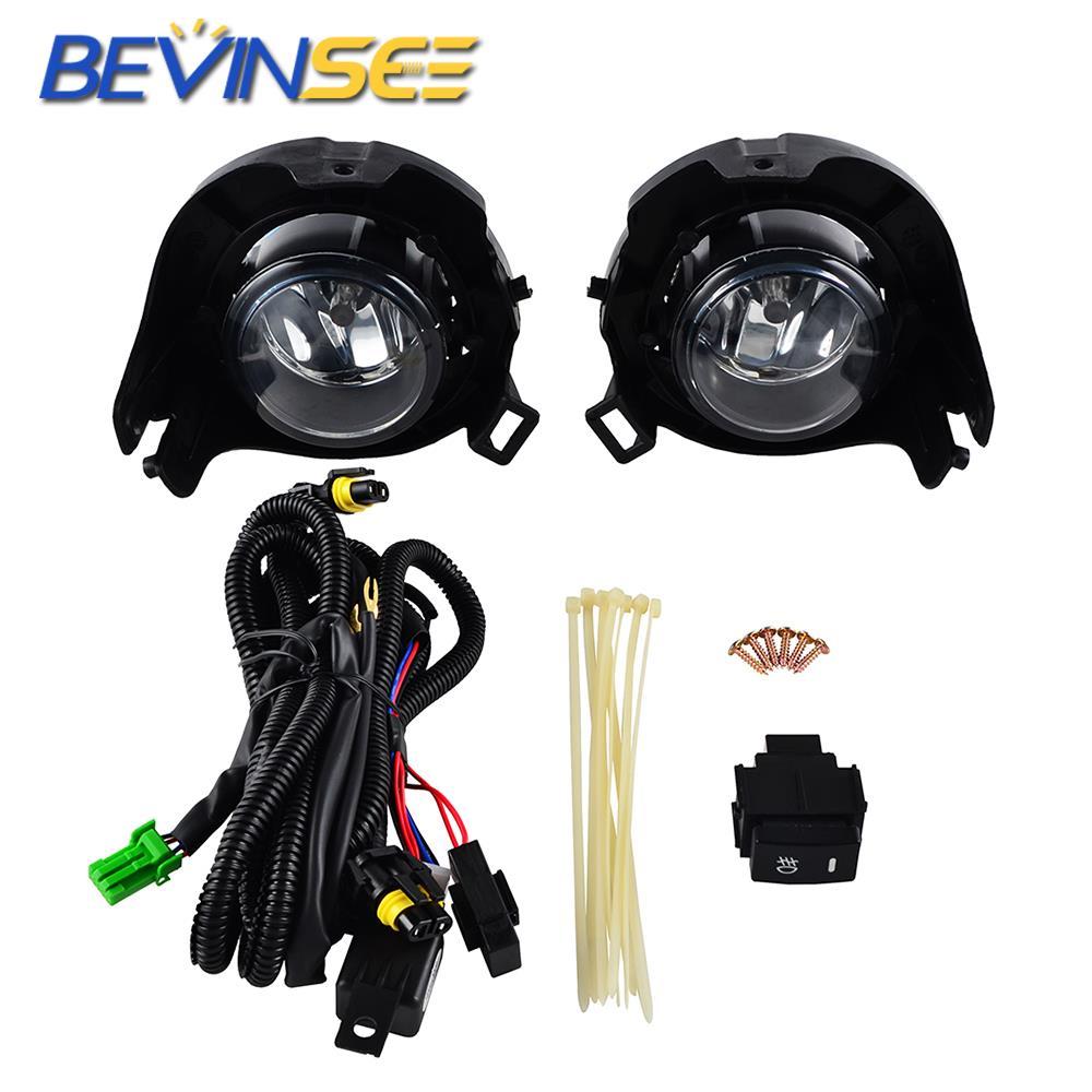Auto H11 12V 55W lampes de conduite/antibrouillard interrupteur Kit complet pour Nissan Pathfinder 2005 2006 2007 2008 2009 2010 2011 2012