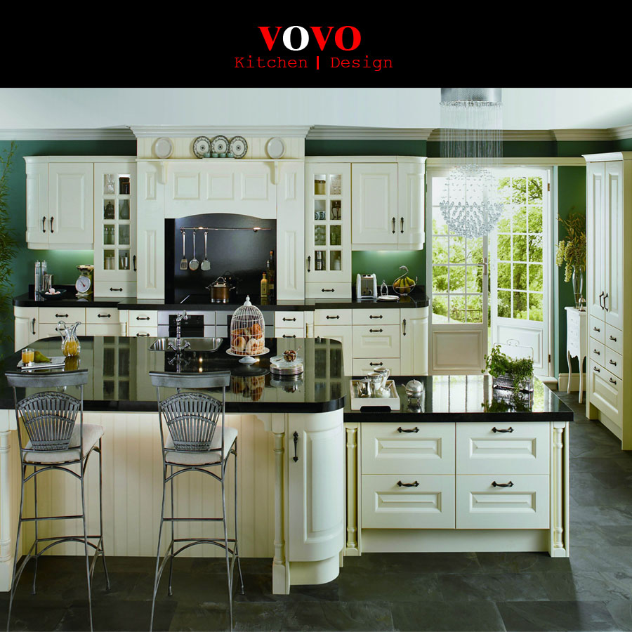 American style kitchen - American Style Solid Wood Kitchen Cabinet Design