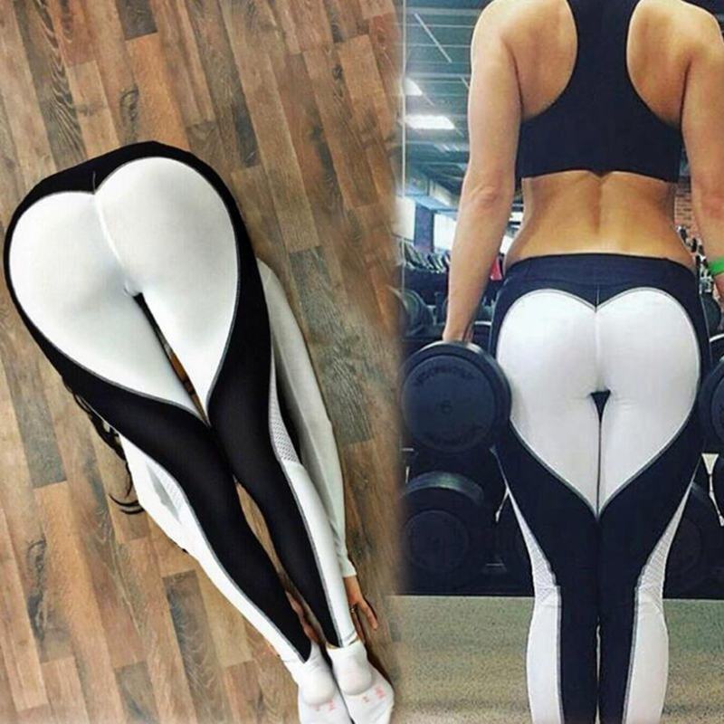 Ladies Sexy Gym Wear Yoga Pants Love design Leggings Workout Tights for Women Heart Booty Pants 1