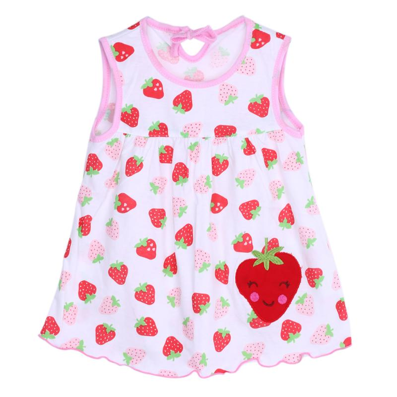 Baby Girl Dress Cartoon Sleeveless Pure Cotton Princess Dresses Baby Girls Fashion Clothing Cute Infantil Baby Dress