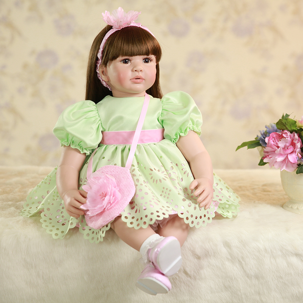 Adora Silicone Reborn Toddler Baby Dolls Alive Lifelike Toddler Princess Girl Dolls Toys for Sale Girls Birthday Gifts Doll Toys handmade new model soft vinyl silicone reborn toddler princess girl baby alive doll toys with strap denim skirts birthday gifts