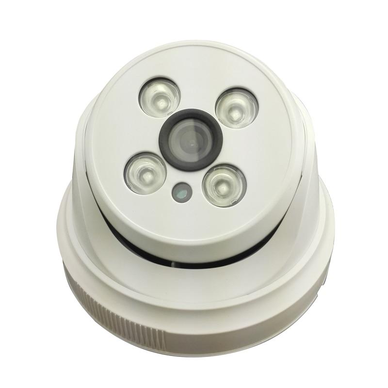 4IR Night Vision HD 720P 1MP Network IP Camera Onivf H.264 P2P POE Audio Microphone