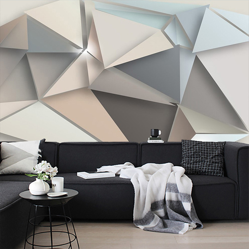 US $8.85 41% OFF|Beibehang Nach Foto Wand Papier 3D Moderne TV Hintergrund  Wohnzimmer Abstrakte Kunst Wandbild Geometrische Wand Abdeckt Tapete-in ...
