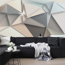 Custom Photo Wall Paper 3D Modern TV Background Living Room Bedroom Abstract Art Wall Mural Geometric Wall Covering Wallpaper custom 3d poster wall paper modern high quality living room sofa bedroom tv backdrop mural paintings wallpaper motorcycle rider