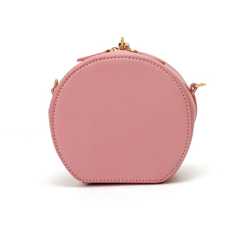 Round Women Mini Bag PU Leather Crossbody Bags for Womens Shoulder Bag Ladies Cute Round Women Messenger Bags Satchel Summer все цены
