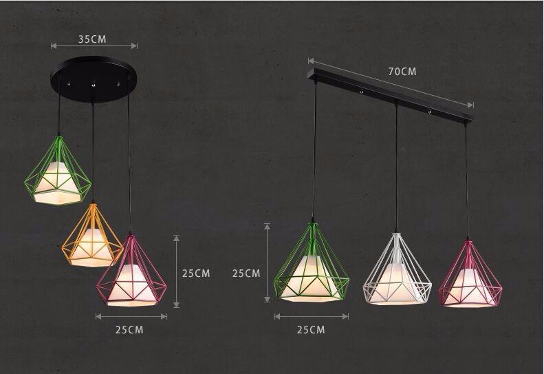 diamond pendant lamp shade (1)