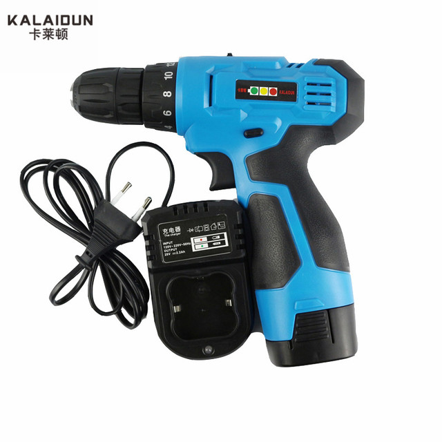 KALAIDUN 21V Mobile Electric Drill Power Tools Electric Screwdriver Lithium Battery Cordless Drill Mini Drill Hand Tools 1