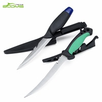 Booms Fishing FK2 Fishing Knife 2 Pieces Stainless Steel Paring Knife Fish Knife Fillet Floating