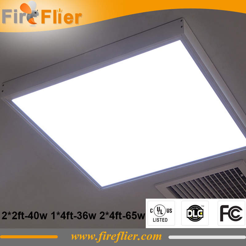 4pcs/lot UL DLC FCC led panel light 36w 40w 65w square panel lamp 1*4ft 2*2ft 2*4ft 600*600mm 300*1200mm 600*1200mm USA Canada large illumination area ul panel light 4 x1 1200x300mm hanging recessed wall surface mounting no gare soft flat light