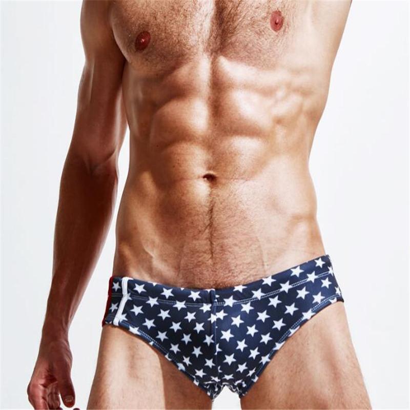 Topdudes.com - Men's High Quality Fashion Star Print Beach Sexy Low Waist Briefs