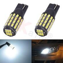 2 шт. T10 W5W 194 501 Передний Задний габаритный фонарь лампы номерных знаков 54SMD 3014 DC 12 V-24 V автомобильной/Car внутренняя подсветка