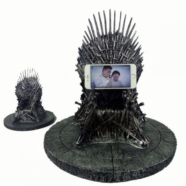 17cm game of thrones action figure toys sword chair model toy song