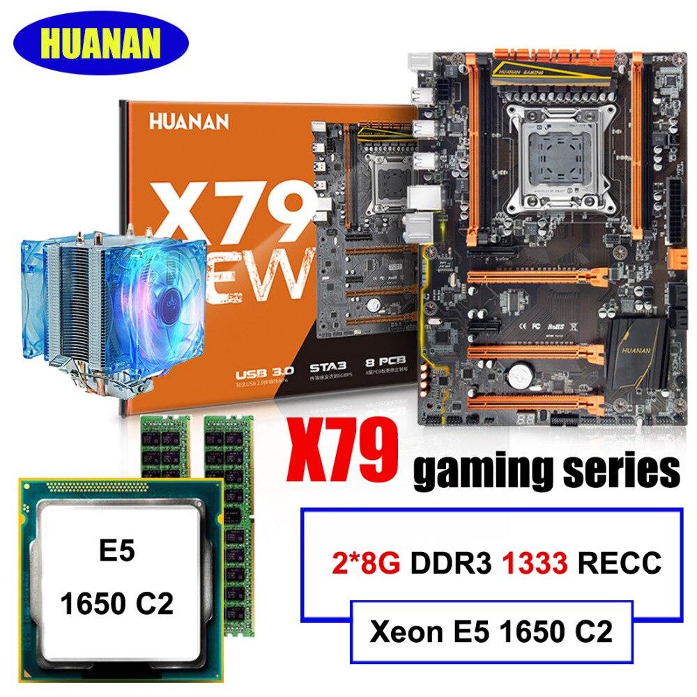 Сборки компьютера HUANAN DELUXE X79 LGA2011 материнской Процессор Оперативная память комбинации Xeon E5 1650 C2 с охладитель Оперативная память 16 г (2*8 г) DDR3 ...