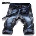 2017 Última Moda de Verano de Los Hombres Famoso Diseñador de Confort Casual Hasta La Rodilla Denim Pantalones Cortos Para Hombre Jeans Hombres 28-42 Barato
