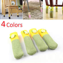 Chair Table Foot Cover Maxnina 4pcs Home Fashion Protect Floor Knitted Flower Table Chair Leg Sleeve Socks(China)