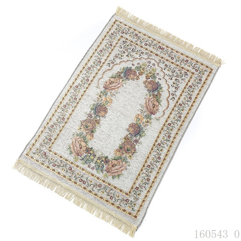 New Design Unique Chenille Thin Travel Islamic Prayer Mat/rug/carpet for Worship Salat Musallah Prayer Rug Praying Mat 70*110cm image