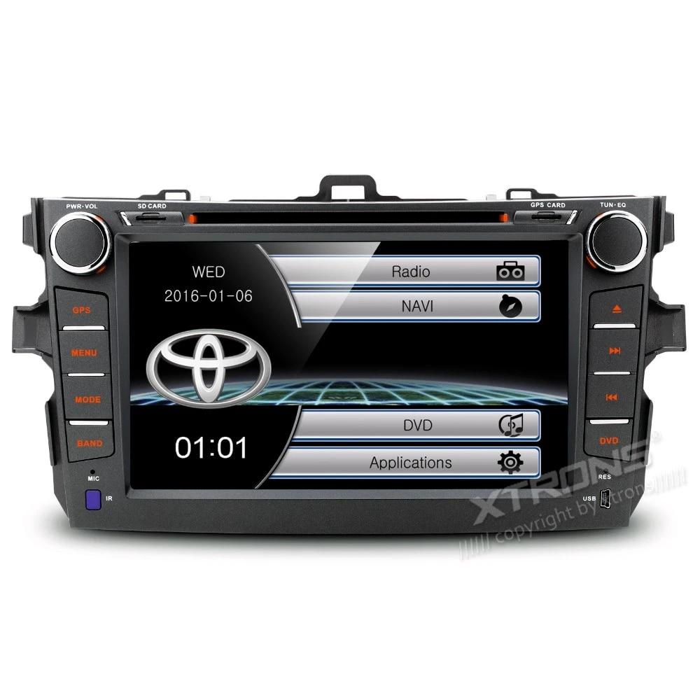 XTRONS 8นิ้วหน้าจอสัมผัส2 Din วิทยุรถ DVD Player GPS นำทางพวงมาลัยสำหรับ  Toyota Corolla 2007 2008 2009 2010 2011 2 din 2 din radiocar dvd player gps  - AliExpress