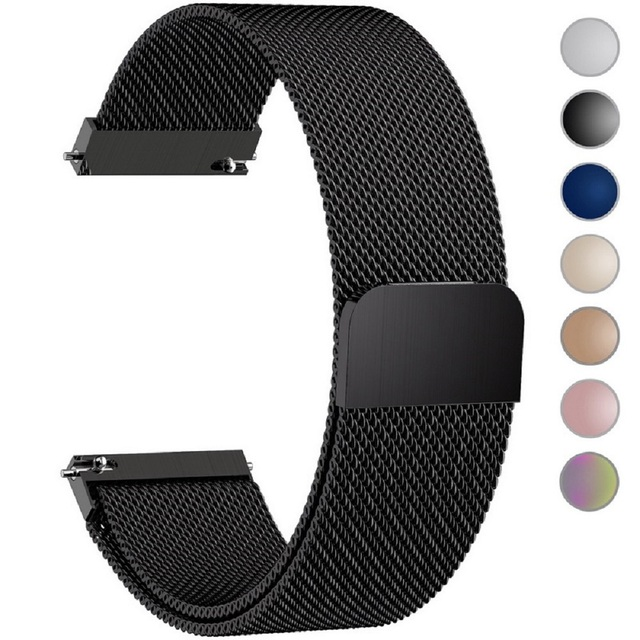 76767fd2fff 7 Colors for Quick Release Watch Band Fullmosa Milanese Magnetic Closure Stainless  Steel Watch Strap 18mm