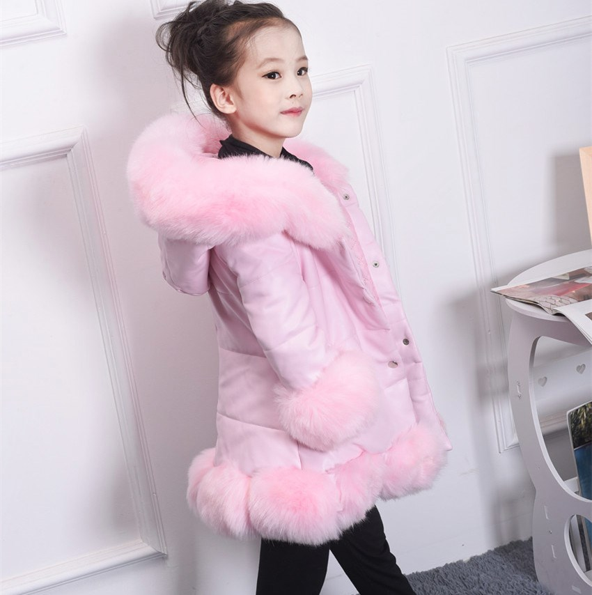 Baby Girls Hooded Outerwear Jackets Warm Coat Kids Jacket Girls Clothes 10 12 Year Winter Outerwear Keep Warm Snowsuits 10 12 14