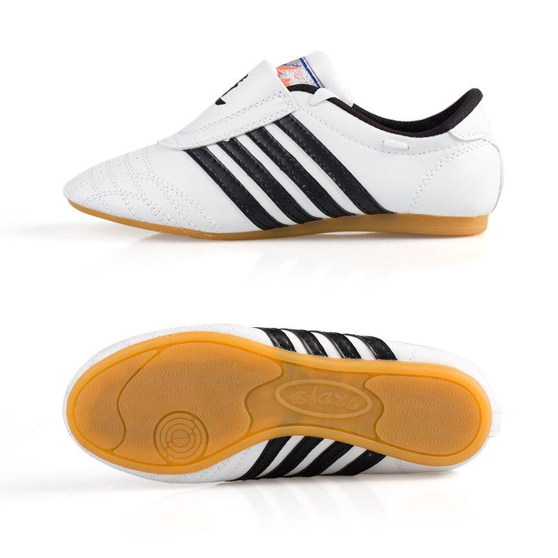 Для детей и взрослых Обувь для тхэквондо карате Wu Шу Санда белые туфли Kick Бокс прочный дышащий Road Обувь
