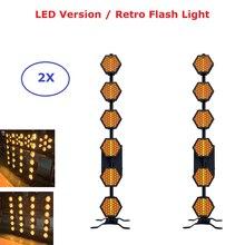 2Pcs Dj Equipment LED Retro Flash Light 6X60W Warm White LED Stage Light DMX Controller Disco Lights Lumiere Dj Effet Led Light цена 2017