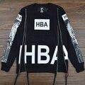 2015 мужской hba толстовка хип-хоп hoodies о-образным вырезом молния личность дизайн 3D печать на обороте флис человек hba VC1581