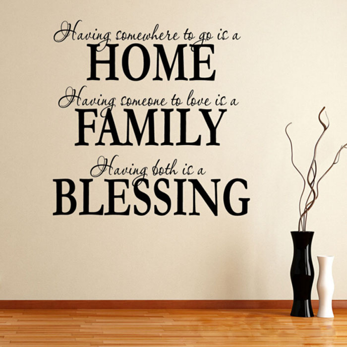 Maaryee Home Family Blessing Removable Wall Decor Quote Stickers Vinyl Decals Art Mural Posters Bedroom